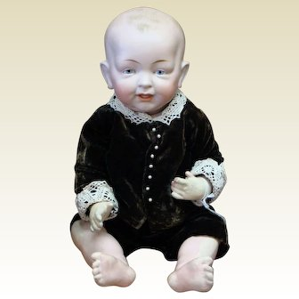 Kestner Bisque Head Baby Doll With Painted Eyes