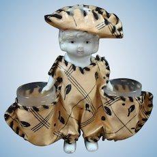 Unique Souvenir All Bisque Doll Toothpick Holder