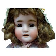 German Bisque Head Child Doll Marked Pansy IV