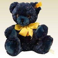 Steiff Navy Blue Plush Teddy Bear with Gold Sparkles