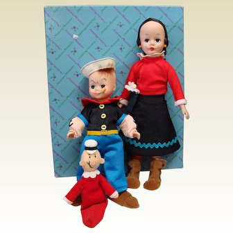 Madame Alexander Popeye, Olive Oil and Sweet Pea Dolls