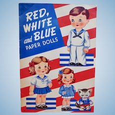 Red, White and Blue Paper Dolls by Ann Kovach
