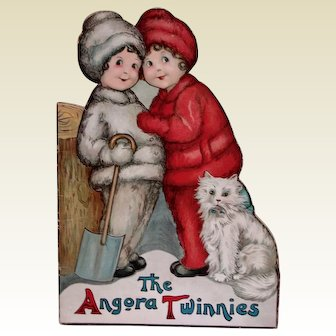 The Angora Twinnies Childrens Book with Colored Lithographs