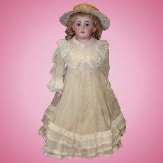 German Bisque Shoulder Head Doll Made by Dressel