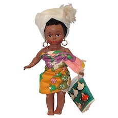 Madame Alexander 8 Inch Bent Knee African Doll with Wrist Tag