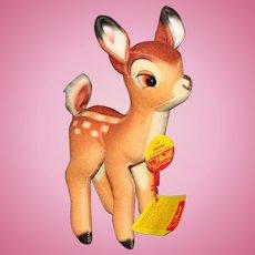 Cute Steiff Disney Felt Bambi with Paper Tags