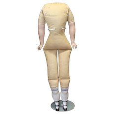 Vintage Cloth Body with Bisque Lower Limbs
