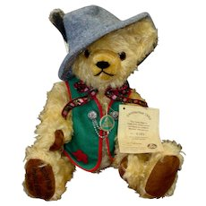 Hermann Fully Jointed Mohair Octoberfest Bear with Box