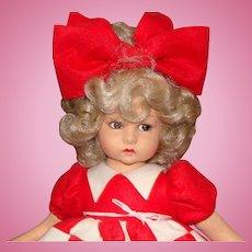 Lenci Felt Doll with Attached Felt Wreath
