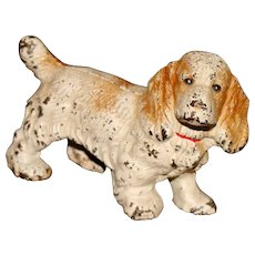 Darling Little Cast Iron Spaniel Companion for Your Dolls!