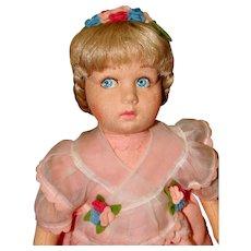 1983 All Felt Lenci Doll Named Loretta with Wrist Tag