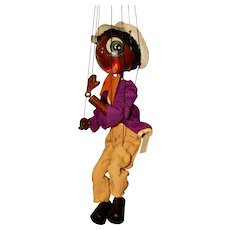 1940's Effanbee Marionette Jambo the Jiver with Box and Record