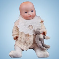 Cute Little Armand Marseille Infant Baby Doll with Composition Body