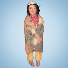 Skookum Bully Good Indian Doll with Label