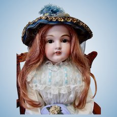 Big and Beautiful Kestner Bisque Shoulder Head Child Doll