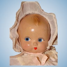Cute Little Composition Doll Made by the Eugenia Doll Co.