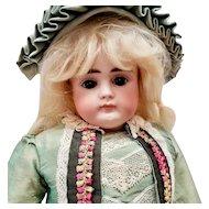 German Bisque Turned Shoulder Head Child Doll