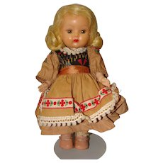 Nancy Ann Hard Plastic Walking Muffie Doll