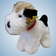 Little Steiff Plush Terrier with Yellow Tag in the Ear