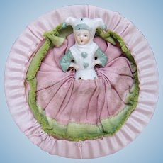 Little Jester Half Doll with Powder Puff