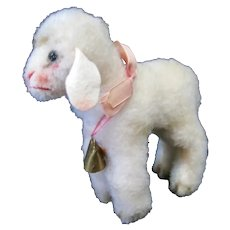 Adorable Steiff Lamby with Cream Colored Mohair