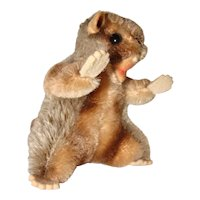 Cute Little Steiff Mohair Nagy Beaver with Felt Paws
