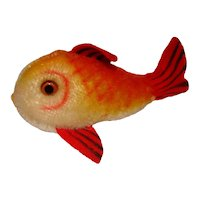 Steiff Red and Yellow Mohair Flossy Fish