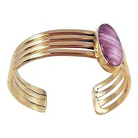 Navajo - Robert Platero Brass and Spiney Oyster Bracelet