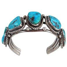 Navajo – Sterling and Kingman Turquoise Bracelet