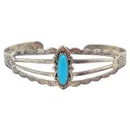 Maisel's – sterling silver & Turquoise Bracelet - C. 1940s