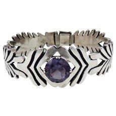 Taxco/Mexico – Sterling Silver, Amethyst Bracelet
