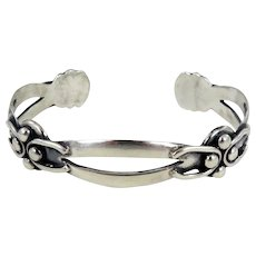 Taxco/Mexico – Isidro Garcia Pina Sterling Silver Split Band Bracelet