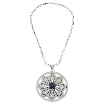 Taxco/Mexico – Los Ballesteros Sterling Silver and Amethyst Pendant Necklace