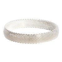 Sterling Multi Wire Flattened Mesh Bracelet