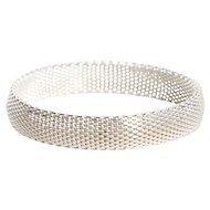 Sterling Multi Wire Flattened Mesh Bracelet