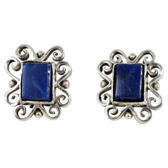 Taxco/Mexico – Sterling Silver and Lapis Earrings