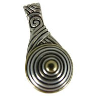 Sterling Silver & Gold Wash Tear dropped Hallmarked Pendant