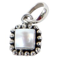 Sterling Silver Sajen Mother of Pearl Pendant