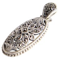 Sterling and Marcasite Pendant.