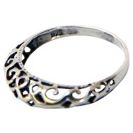 Sterling Silver with Open Work Design Ring