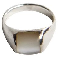 Sterling with Mother-of-Pearl Ring