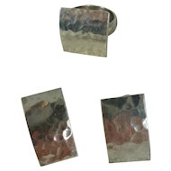 Sterling Silver Hammered Earring/Ring Set