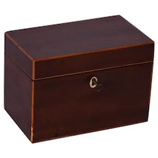 A George III two division tea caddy