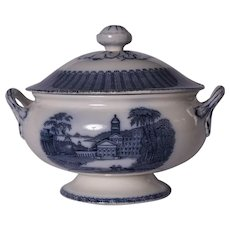A Victorian blue and white tureen