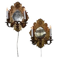 A pair of nineteenth Century bronze reflecteurs