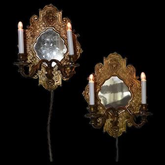 A pair of nineteenth Century bronze reflecteurs