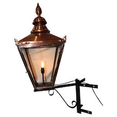 A Victorian copper street lantern