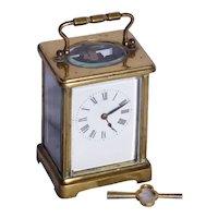 An early twentieth Century brass carriage clock