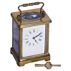 An early twentieth Century brass carriage clock
