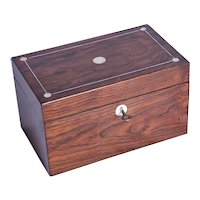 An early Victorian rosewood tea caddy